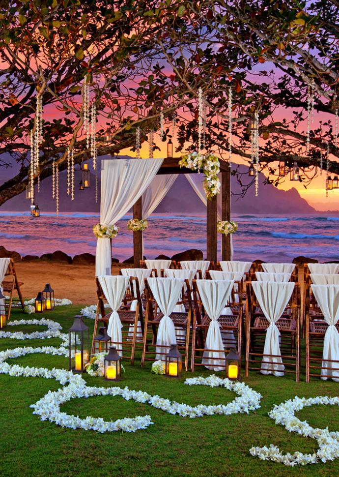 wedding ceremony at princeville resort