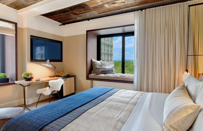 bedroom with window nook