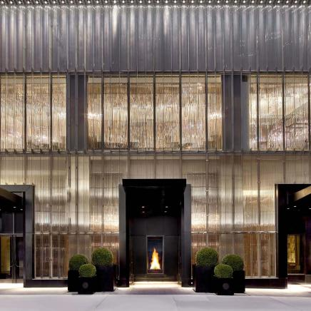 entrance to baccarat hotel new york