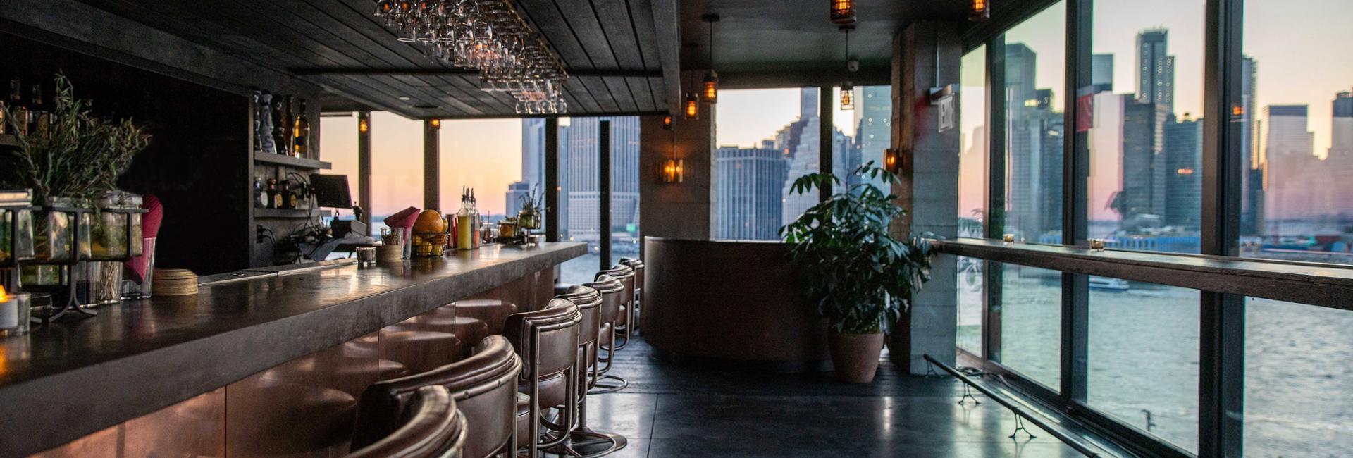 bar looking over brooklyn