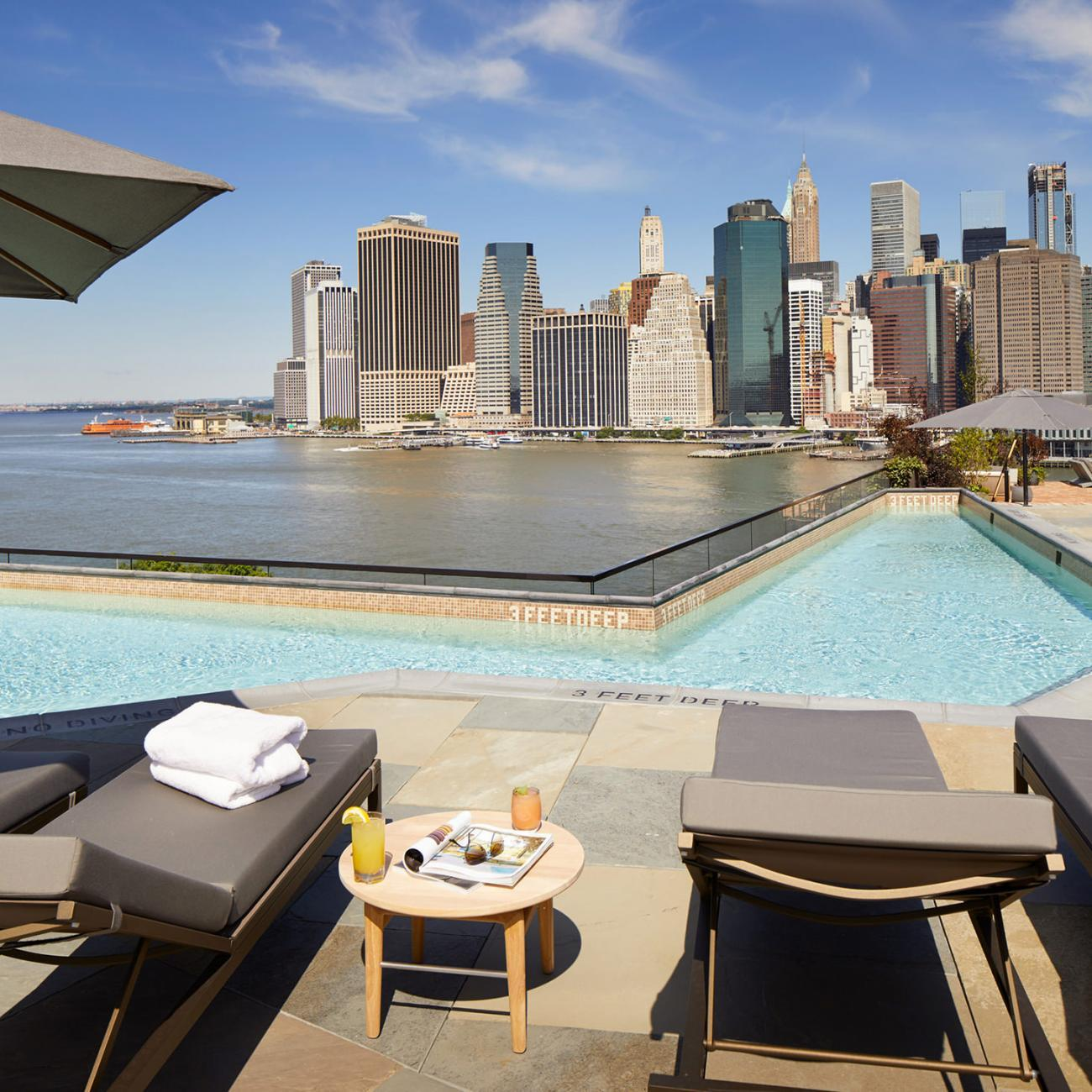 pool with view of brooklyn