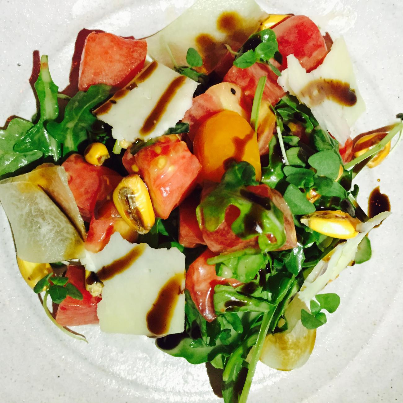 tomato grilled watermelon salad